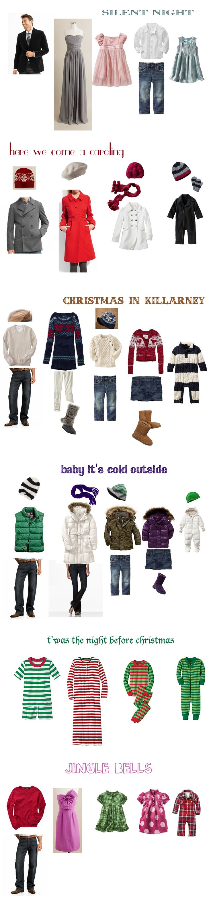 what to wear for holiday card family photos