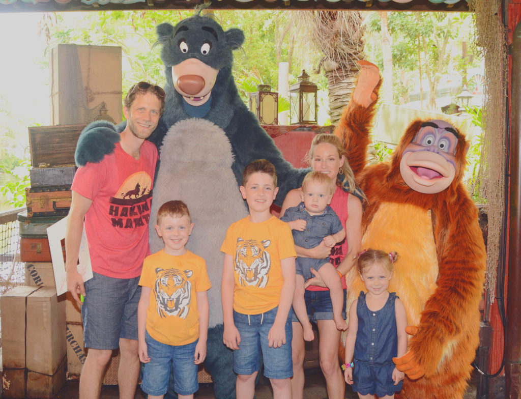 Meeting Baloo and King Louie at Animal Kingdom