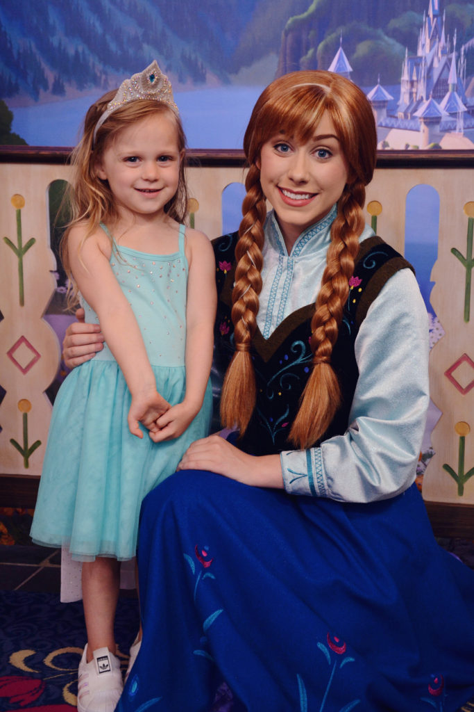 meeting princess Anna from Frozen in Norway at EPCOT