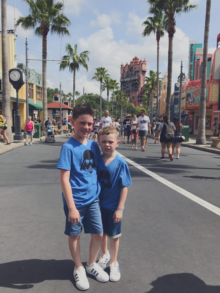 Boys at Hollywood Tower of Terror