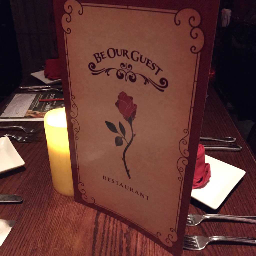 be our guest restaurant menu