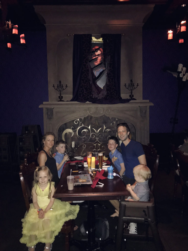 Dinner by the fireplace in the West Wing at Be Our Guest Restaurant