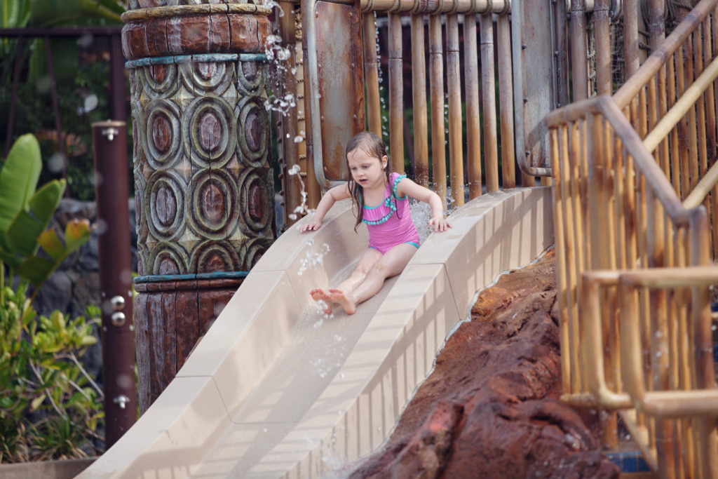 Disney's Polynesian resort kids water playground