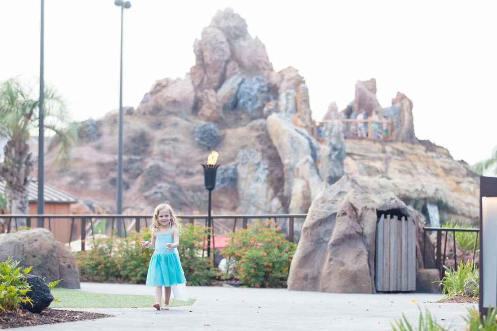 watching Eloise run around the grounds from our patio at Disney's Polynesian Village Resort