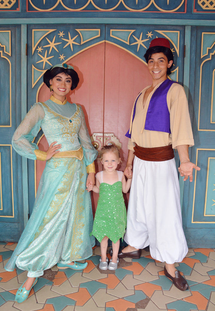 Aladin and Jasmine at walt disney world