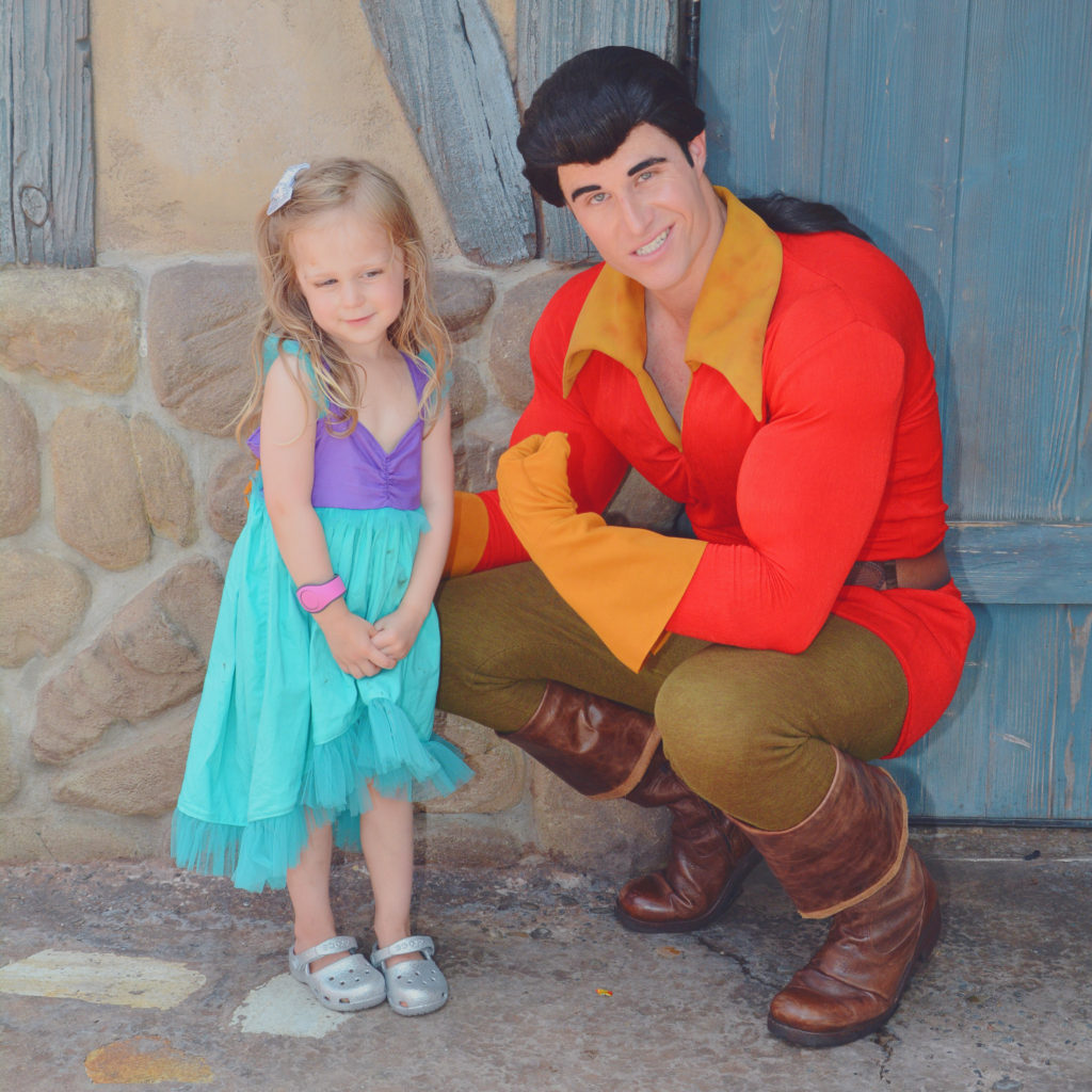 meeting Gaston at Disney World