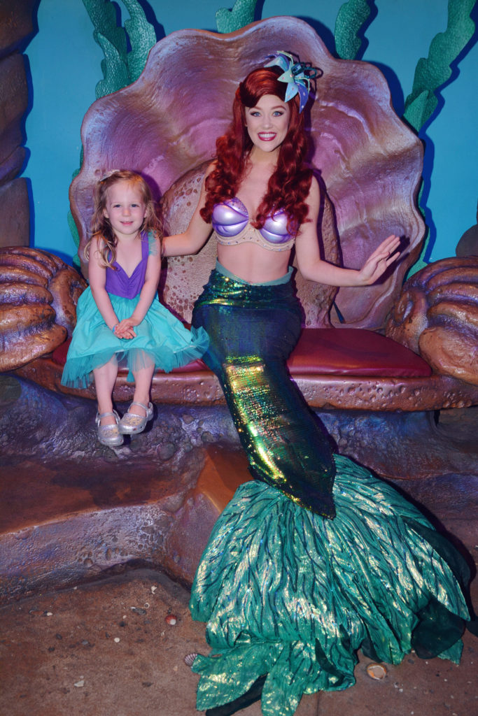 meeting Ariel with the tail at her Grotto