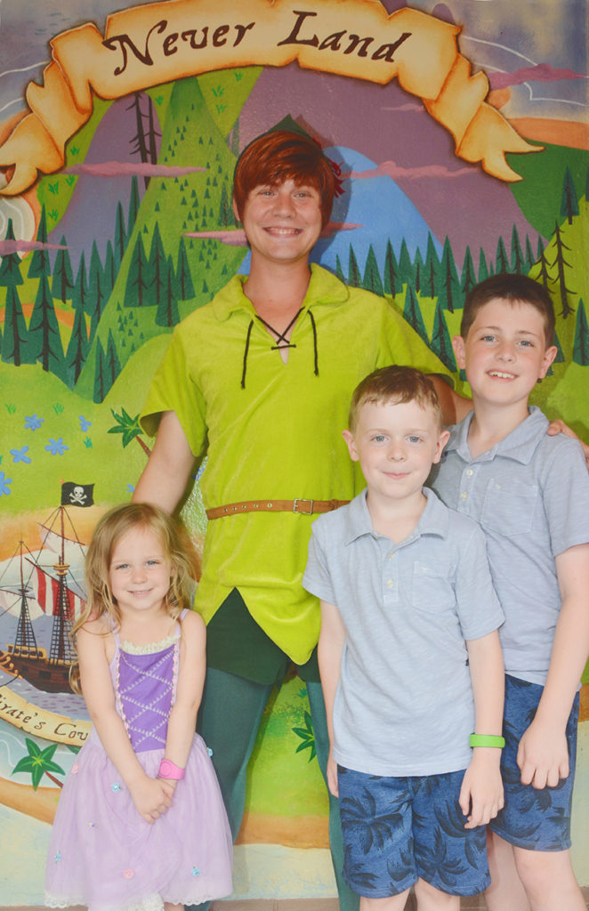 Meeting Peter Pan in Fantasyland