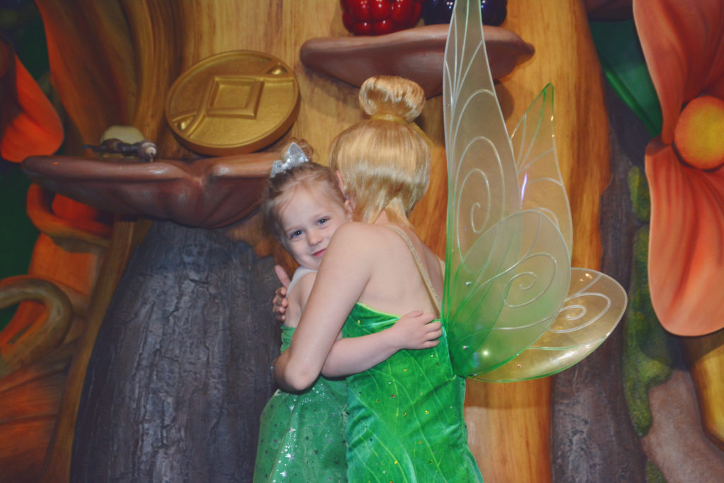 meeting Tinkerbell at Magic Kingdom