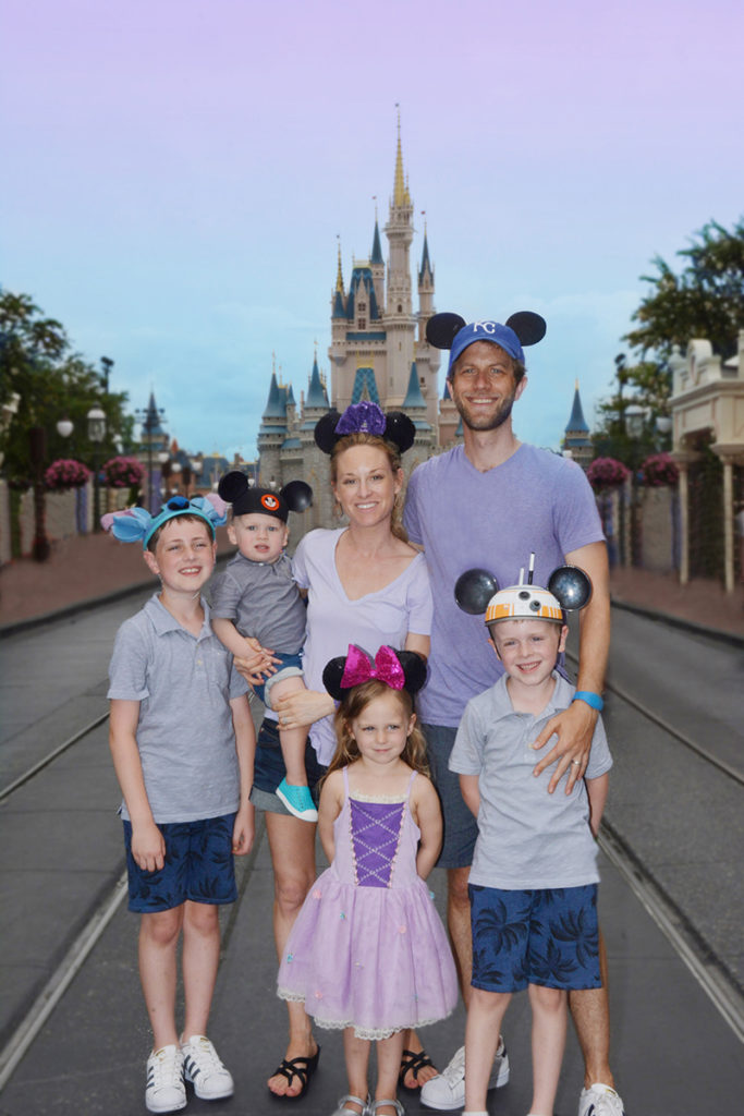 empty main street family photo