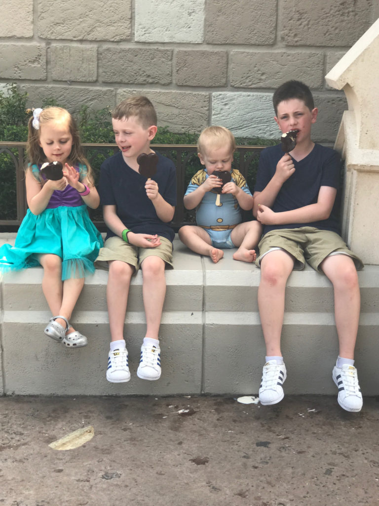 taking a break for some Mickey Ice Cream Bars