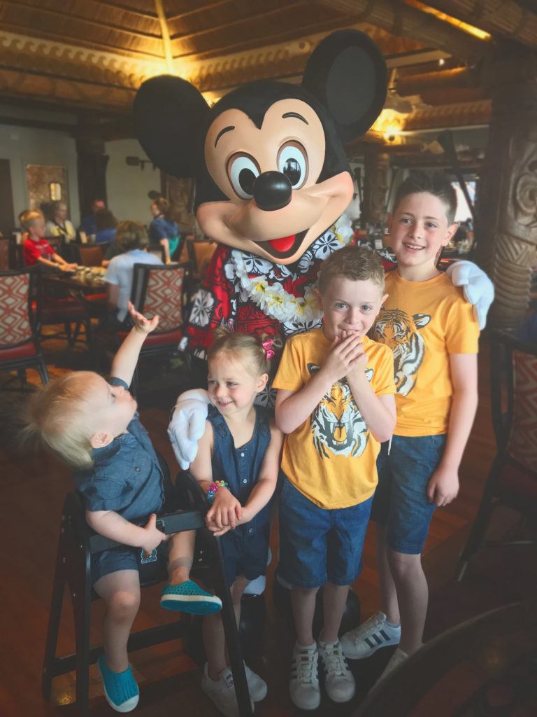 meet Mickey Mouse at Ohana Character Breakfast