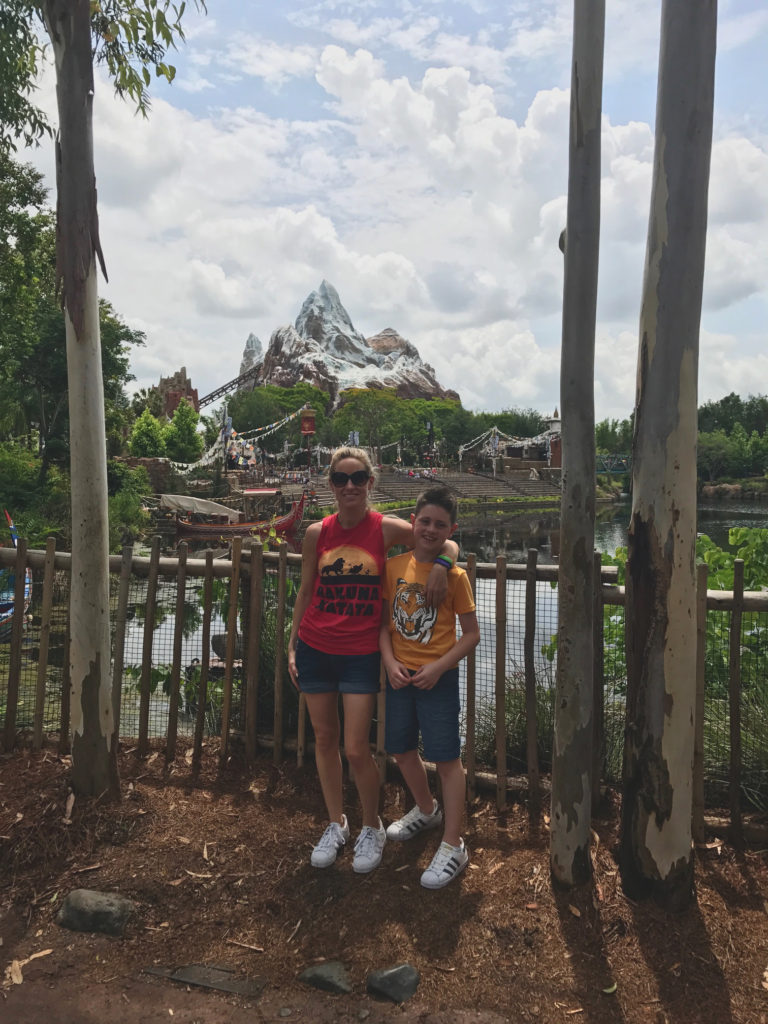Me and Rowan in front of Expedition Everest