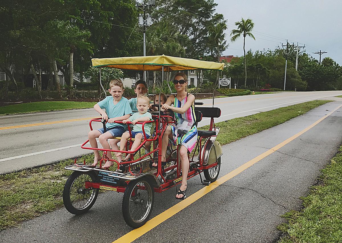 family surrey bike ride sanibel island florida