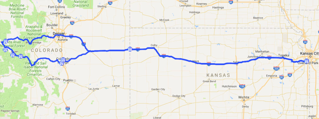 kansas to colorado road trip