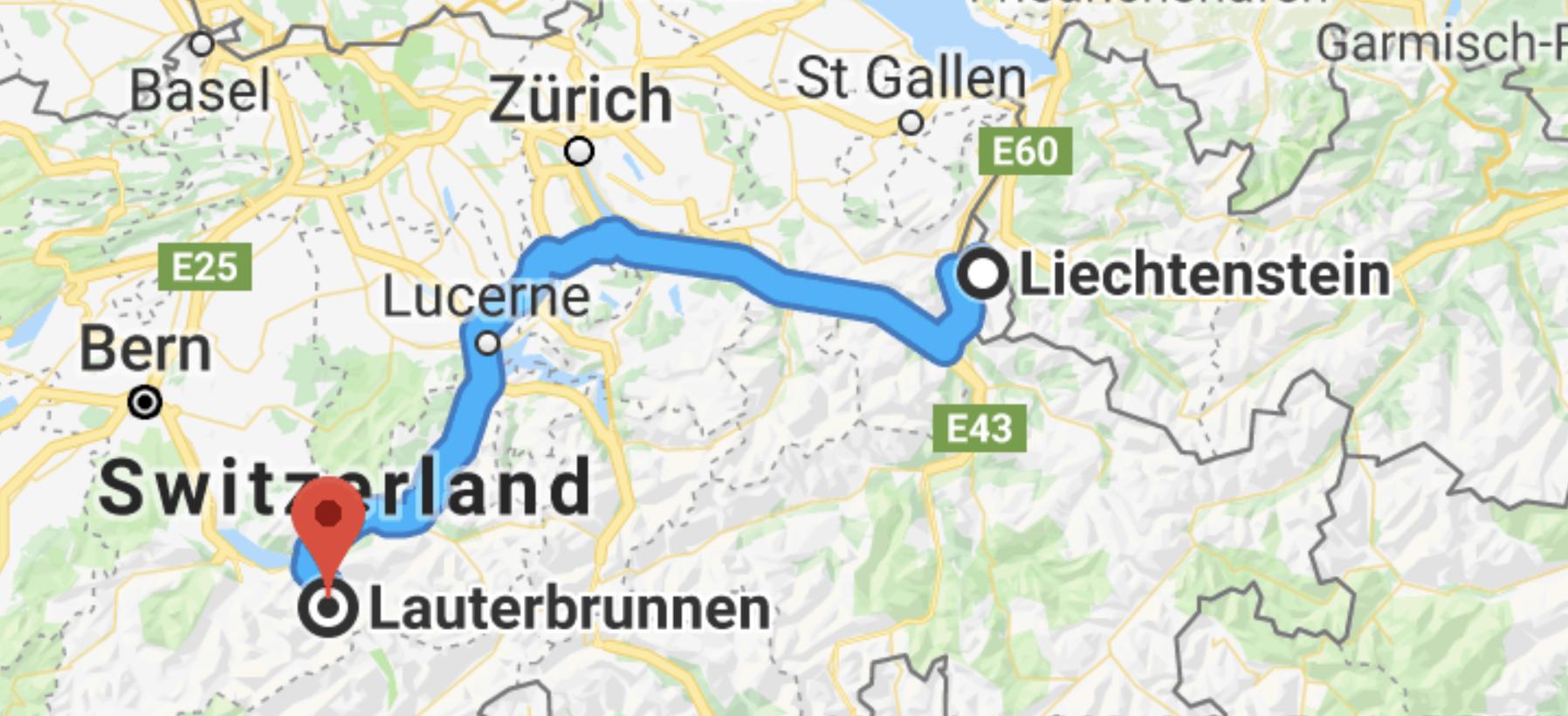 Liechtenstein_to_lauterbrunnen